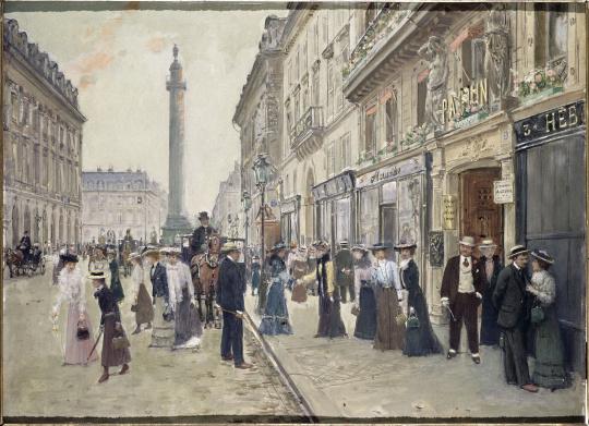 Jean b raud sortie des ouvri res de la maison paquin rue de la paix images d art - Magasin reproduction tableau paris ...