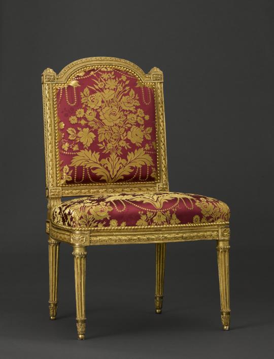 chaise du salon des jeux de louis xvi versailles images d art. Black Bedroom Furniture Sets. Home Design Ideas