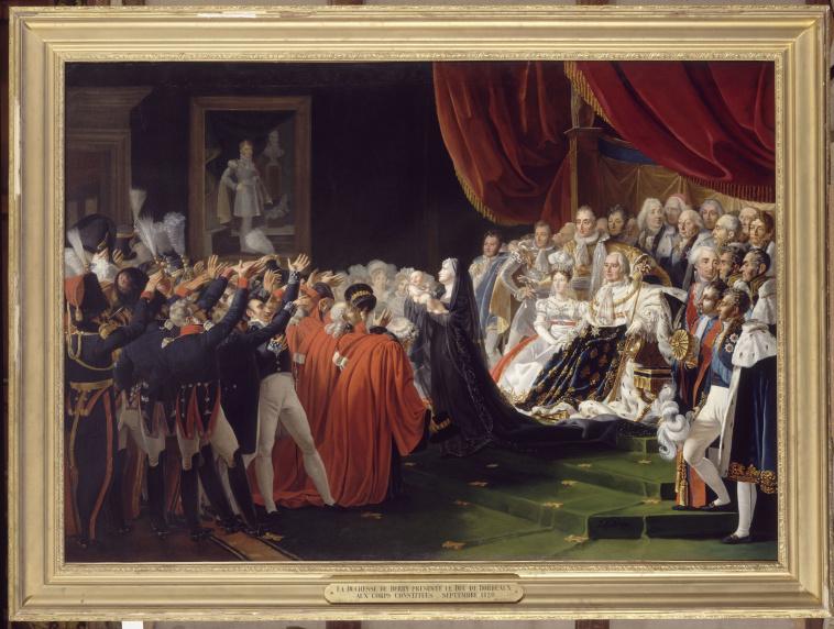 Charles Nicolas Lafond   La duchesse de Berry présentant son fils le duc de  Bordeaux au peuple et à l'armée   Images d'Art