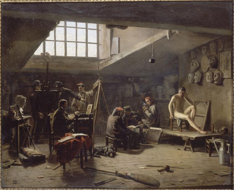 L on matthieu cochereau int rieur de l 39 atelier de david images d art - Atelier d art de france ...
