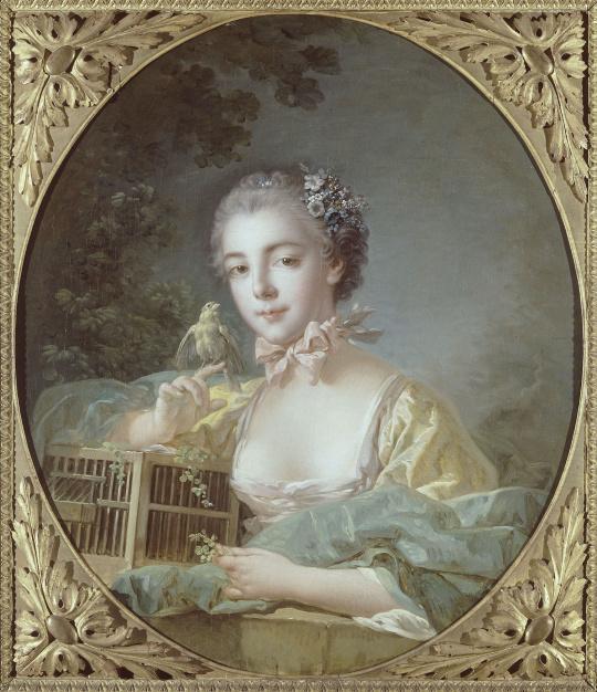 Fran ois boucher portrait de madame baudouin fille du for Boucher peintre