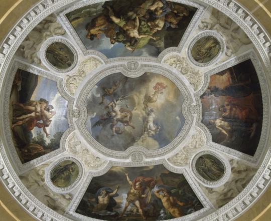 Plafond de la rotonde d 39 apollon images d art for Technique peindre plafond