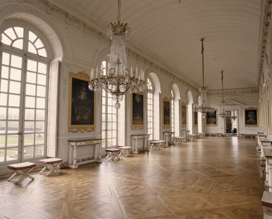 Vue int rieure du grand trianon galerie des cotelle for Chateau de versailles interieur