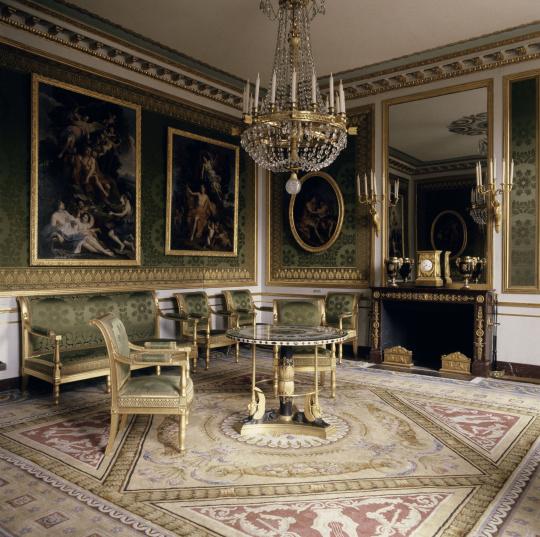Vue intérieure du grand Trianon : cabinet particulier de l'Empereur    Images d'Art