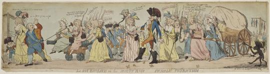 Isaac Cruikshank | Au retour de Louis XVI et de la famille royale à Paris,  le 6 octobre 1789 | Images d'Art