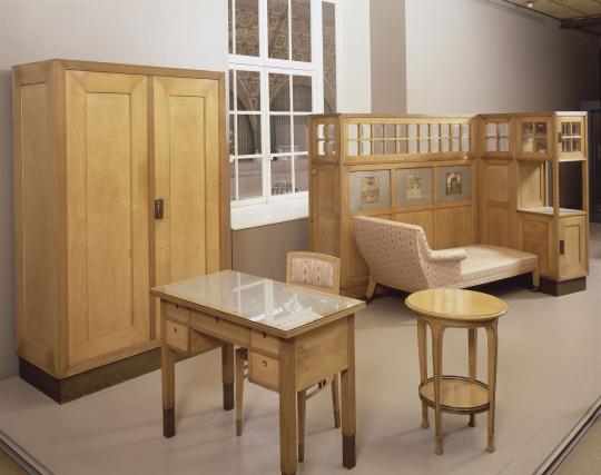 Adolph loos partie d 39 un mobilier de chambre coucher for Mobilier de chambre