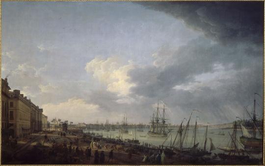 joseph vernet premi 232 re vue du port de bordeaux prise du c 244 t 233 des salini 232 res images d
