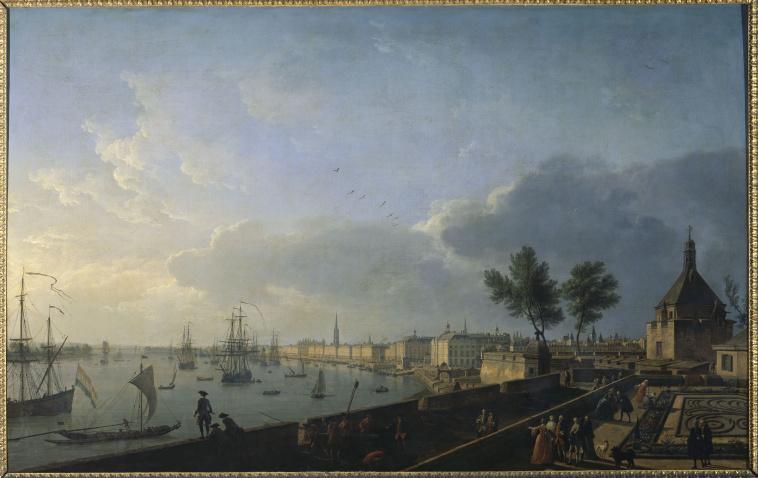 Jean baptiste nicolas raguenet le pont neuf et la - Tableau du port de bordeaux par vernet ...