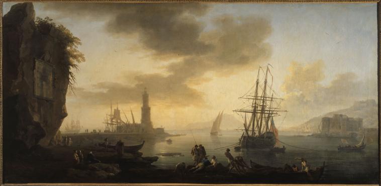Joseph vernet l 39 entr e du port de marseille images d art - Le port de bordeaux par joseph vernet ...