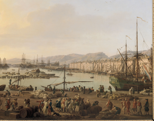 Joseph vernet premi re vue de toulon vue du pont neuf prise l 39 angle du parc d 39 artillerie - Le port de bordeaux par joseph vernet ...