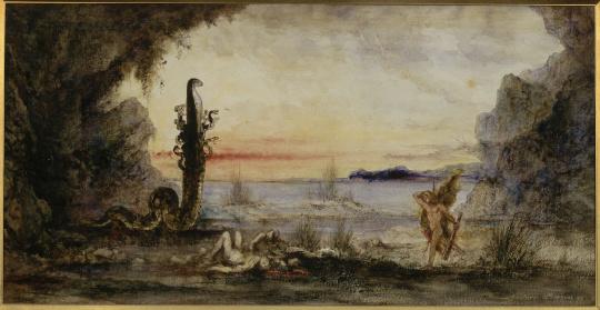 Gustave moreau hercule et l 39 hydre de lerne images d art - Les pommes d or du jardin des hesperides ...