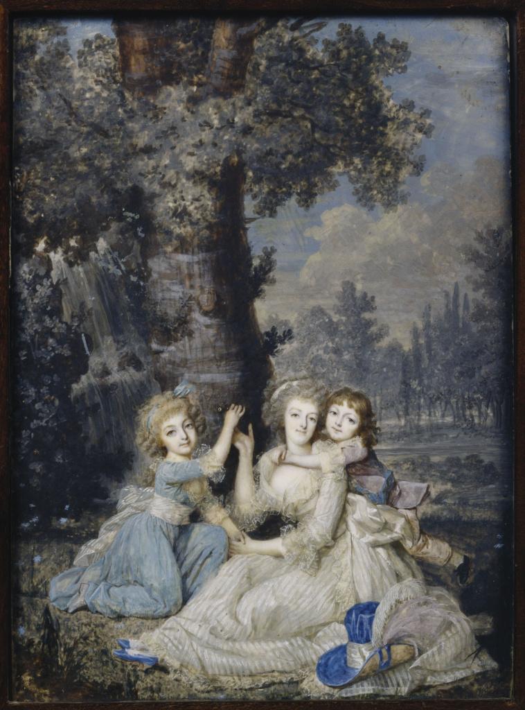 François Dumont, l'Aîné   Portrait de la reine Marie-Antoinette, de sa  fille et de son second fils   Images d'Art