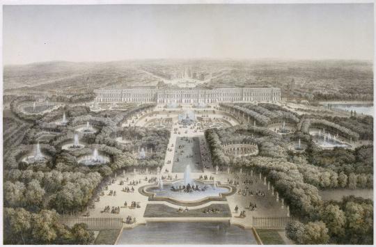 Isidore laurent deroy vue de versailles le parc le for Parking parc des expositions versailles