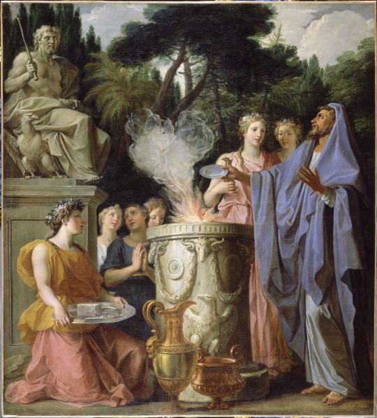 Noël Coypel | Sacrifice à Jupiter | Images d'Art