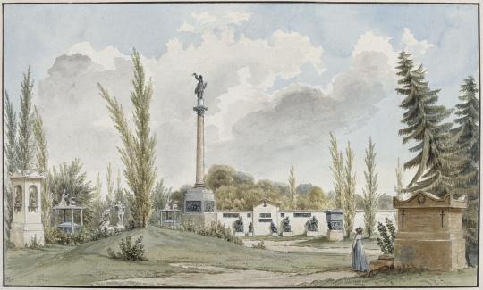 Alexandre lenoir vue du jardin du mus e des monuments for Alexandre jardin wikipedia