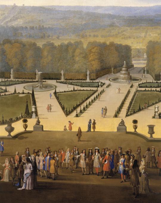 Etienne allegrain promenade de louis xiv en vue du parterre du nord dans les jardins de - Histoire des arts les jardins de versailles ...