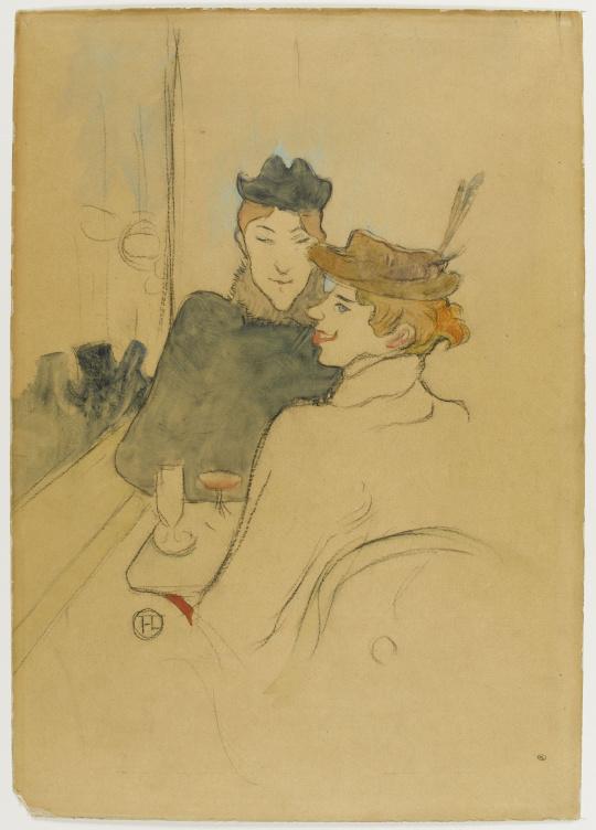 henri de toulouse lautrec deux femmes assises au caf images d art. Black Bedroom Furniture Sets. Home Design Ideas