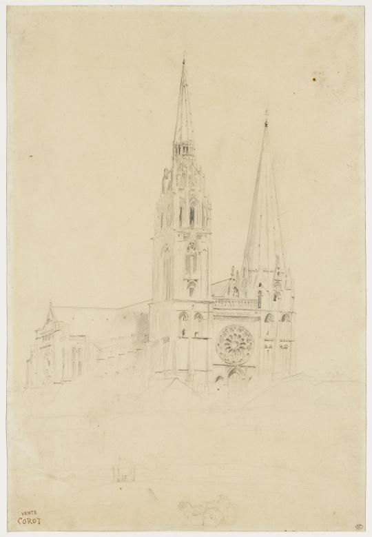 vue de la faaade ouest de. Faaade Ouest Vue Du. Camille Corot Chartres Images S De La