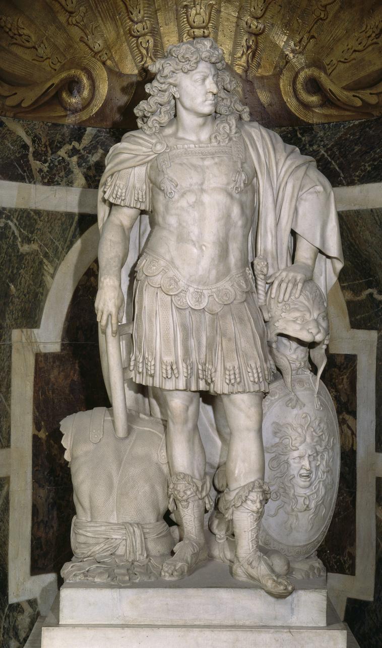 Jean Warin   Statue de Louis XIV (1638-1715) placé dans le salon de Vénus  dans les Grands Appartements   Images d'Art