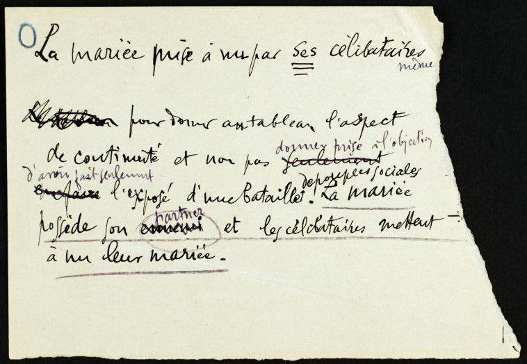 Marcel duchamp note autographe pour inframince - Broyeuse de papier ...