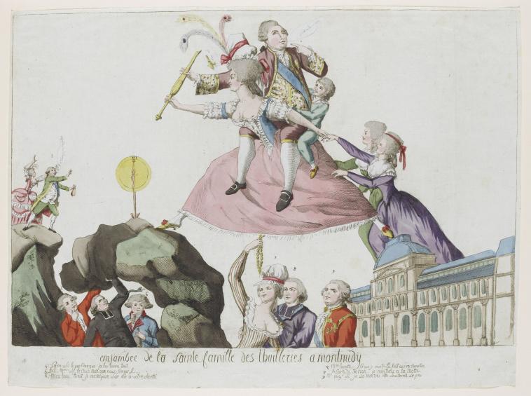 Anonyme, Anonyme français   Enjambée de la sainte famille des Tuileries à  Montmidy   Images d'Art
