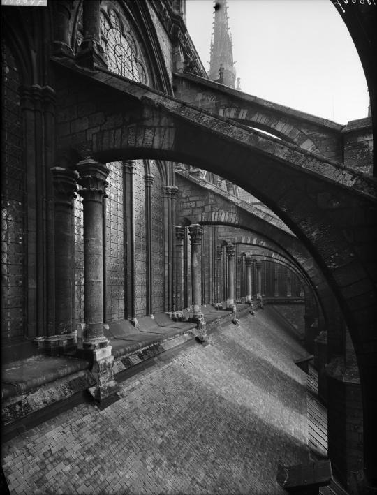 Fenêtre Haute De La Nef Et Arc Boutant Du Flanc Sud De La Cathédrale