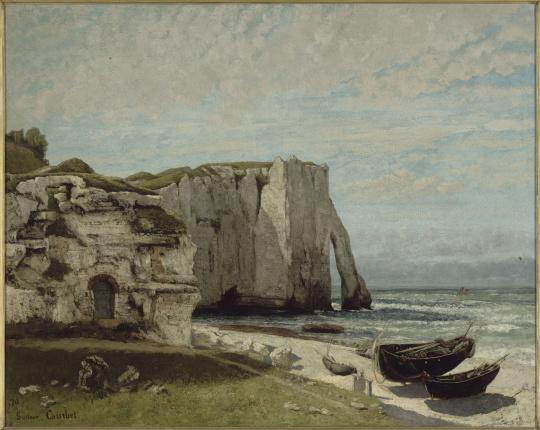 Gustave courbet la falaise d 39 etretat apr s l 39 orage images d art - Les portes d etretat maniquerville ...