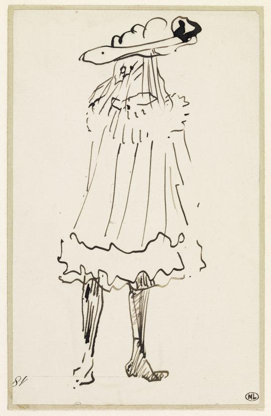 Henri De Toulouse Lautrec Petite Fille Vue De Dos Et