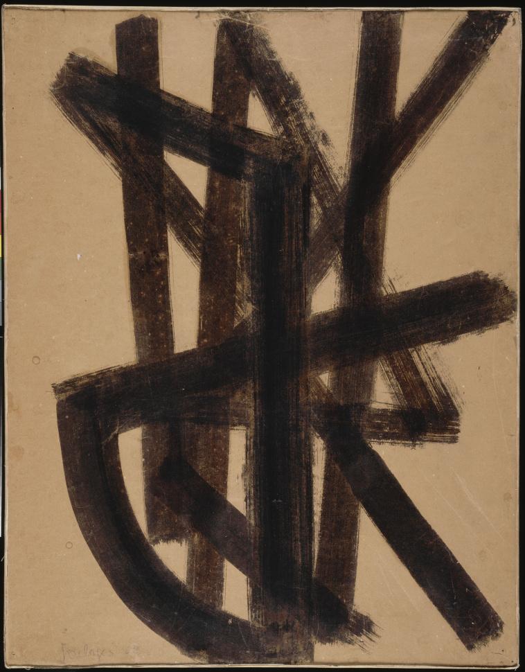 pierre soulages peinture 324 x 362 cm 1985 polyptyque c images d art. Black Bedroom Furniture Sets. Home Design Ideas