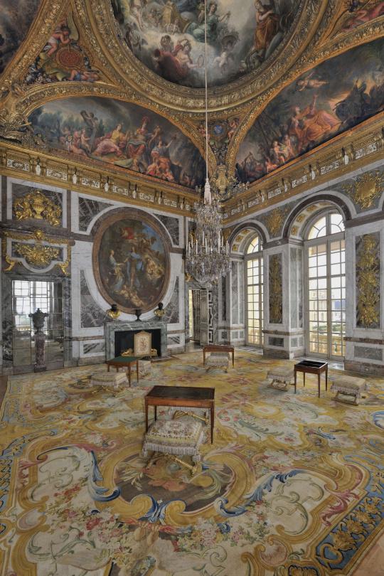 Vue intérieure, Grands Appartements, le salon de la Paix | Images ...