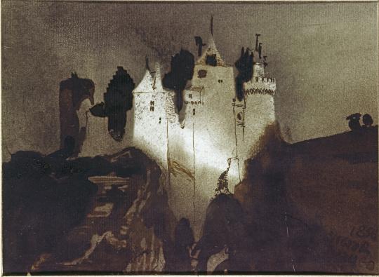 Victor Hugo Chateau Eclaire Dedie A Louise Collet Images D Art
