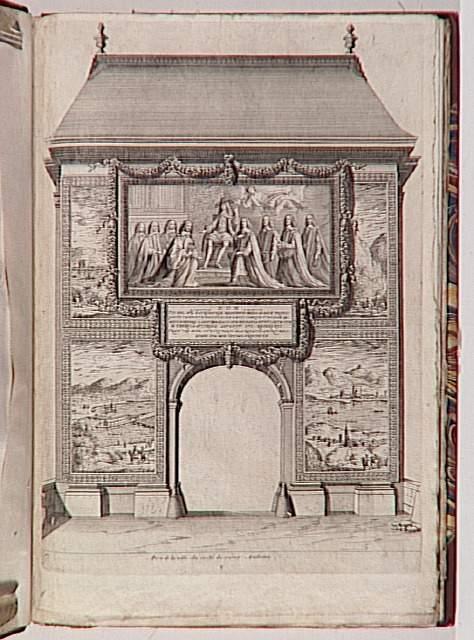 Entr e du roi louis xiv paris en 1660 le tr ne lev for Porte saint antoine