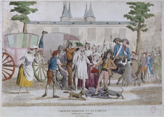 Anonyme | Louis XVI et sa famille conduit au Temple | Images d'Art