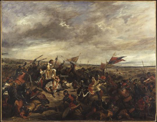 Eug ne delacroix bataille de poitiers 19 septembre 1356 for Artiste peintre poitiers