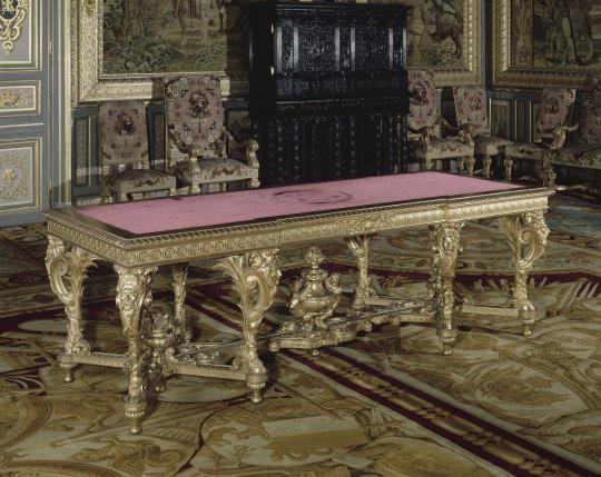 Table pour le salon d 39 apollon aux tuileries images d art for Salon d apollon